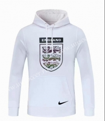 2020-2021 England White Thailand Soccer Tracksuit Top With Hat