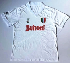 87-88 Retro Version Napoli Away White Thailand Soccer Jersey AAA-912