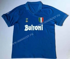 87-88 Retro Version Napoli Home Blue Thailand Soccer Jersey AAA-912