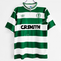 1987-88 Retro Version Celtic Home White & Green Thailand Soccer Jersey AAA-C1046