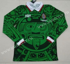 Retro Version Mexico Home Green Thailand LS Soccer Jersey AAA-422