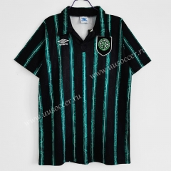 1992-93 Retro Version Celtic Away Black & Green Thailand Soccer Jersey AAA-C1046