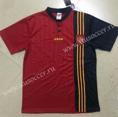 1996 Retro version Spain Home Red Thailand Soccer Jersey AAA-HR