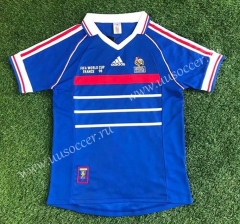 1998 Retro Version France Home Blue Thailand Soccer Jersey AAA-503