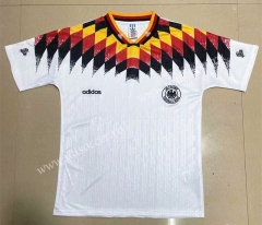 1994 Retro Version Germany Home White Thailand Soccer Jersey-908