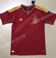 2012 Retro European Cup Spain Home Red Thailand Soccer Jersey AAA-HR