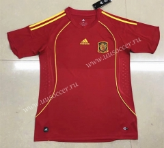 2008 Retro European Cup Spain Home Red Thailand Soccer Jersey AAA-HR