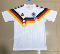 1990 Retro Version Germany Home White Thailand Soccer Jersey-908