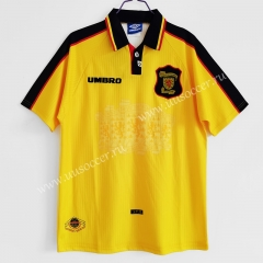 1996-98 Retro Version Scotland Away Yellow Thailand Soccer Jersey AAA-C1046