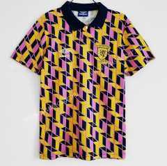 1991-1993 Retro Version Scotland Away Yellow Thailand Soccer Jersey AAA-C1046