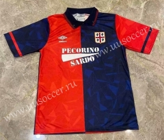 91-92 Retro Version Cagliari Calcio Home Red & Blue Thailand Soccer Jersey AAA-417