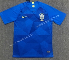 2018 World Cup Brazil Away Blue Thailand Soccer Jersey AAA-803