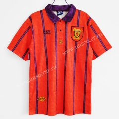 1994 Retro Version Scotland Away Red & Orange Thailand Soccer Jersey AAA-C1046