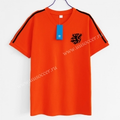 1974 Retro Version Netherlands Orange Traning Thailand Soccer Jersey AAA-C1046