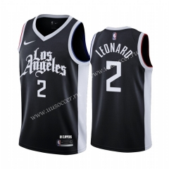 2020-2021 City Version NBA Los Angeles Clippers Black #2 Jersey