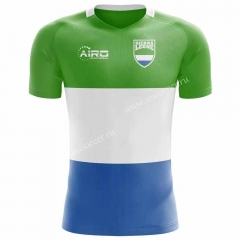 Gai Nian Version 2020-2021 Sierr(a) Leone White & Green Rugby Shirts