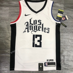 2020-2021 City Version NBA Los Angeles Clippers White #13 Jersey-311