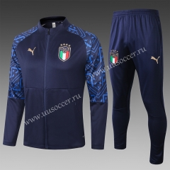 2020-2021 Italy Royal Blue Thailand Soccer Jacket Uniform-815