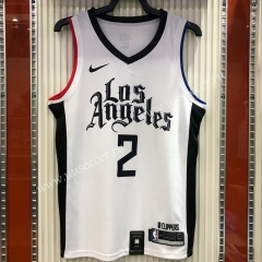 2020-2021 City Version NBA Los Angeles Clippers White #2 Jersey-311