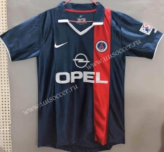 2001 Retro Version Paris SG Royal Blue Thailand Soccer Jersey AAA-811