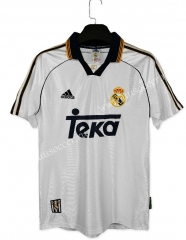 1998-00 Retro Version Real Madrid WhiteThailand Soccer Jersey AAA-C1046