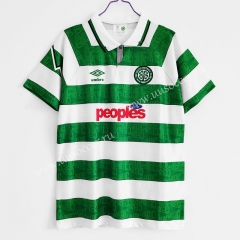 1991-92 Retro Version Celtic Home White & Green Thailand Soccer Jersey AAA-C1046