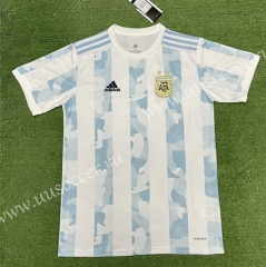 Correct Version 2020/2021 Argentina Home Blue and White Thailand Soccer Jersey AAA