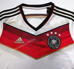 2014 World Cup Retro Version Germany Home White Thailand Soccer Jersey-912