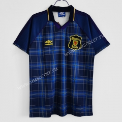 1994-1996 Retro Version Scotland Home Blue & Black Thailand Soccer Jersey AAA-C1046