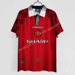 1996-1997 Retro Version Manchester United Home Red Thailand Soccer Jersey AAA-C1046