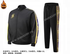 NBA Los Angeles Lakers Black Jacket Uniform-SJ