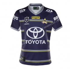 2020/2021 Cowboy Home Blue & Purple Thailand Rugby Shirt