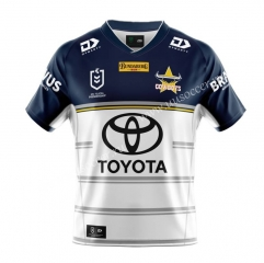 2020/2021 Cowboy Away White & Blue Thailand Rugby Shirt