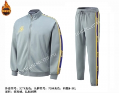 NBA Los Angeles Lakers Gray Jacket Uniform-SJ
