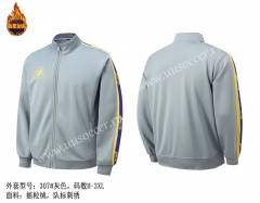 NBA Los Angeles Lakers Gray Jacket Top-SJ