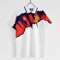1991-93 Retro Version Scotland Away White Thailand Soccer Jersey AAA-C1046