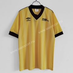 1983-86 Retro Version Arsenal Away Yellow Thailand Soccer Jersey AAA-C1046