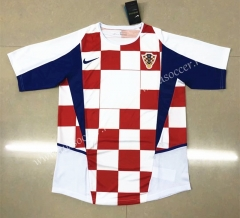2002 Retro Verison Croatia Home Red & WhiteThailand Soccer Jersey AAA-HR