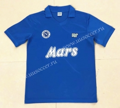 88-89 Retro Version Napoli Home Blue Thailand Soccer Jersey AAA-HR