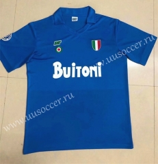 87-88 Retro Version Napoli Home Blue Thailand Soccer Jersey AAA-HR
