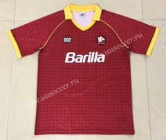 90-91 Retro Version AS Roma Home Red Thailand Soccer Jersey AAA-HR
