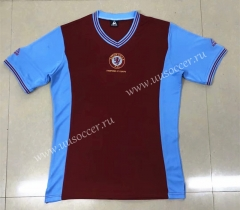 81-82 Retro Version Aston Villa Home Red Thailand Soccer Jersey AAA-HR