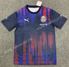 Commemorative Edition 2020-2021 Deportivo Guadalajara Red & Blue Thailand Soccer Jersey AAA-GB