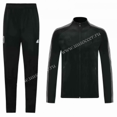 2020-2021 Juventus FC Black Thailand Soccer Jacket Uniform-KS