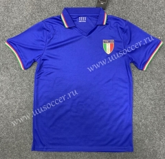 1982 Retro Version Italy Home Blue Thailand Soccer Jersey AAA-GB