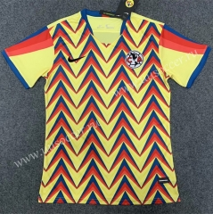 2020-2021 Club America 2nd Red & Yellow Thailand Soccer Jersey AAA-GB