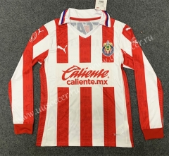 2020/2021 CD Guadalajara Home Red & White LS Thailand Soccer Jersey AAA-GB