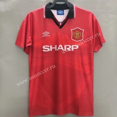 1994-1996 Retro Version Manchester United Home Red Thailand Soccer Jersey AAA-811