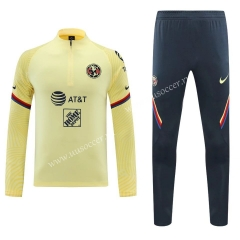 2020-2021 Club América Yellow Thailand Soccer Tracksuit Uniform-418