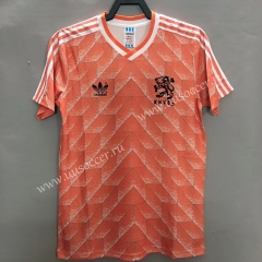 1988 Retro Version Netherlands Home Orange Thailand Soccer Jersey AAA-811